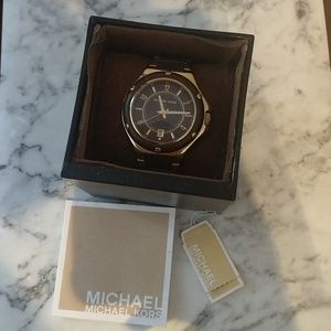 Michael Kors RARE Leather Link Watch Brown